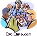 Group leader giving directions Vector Clipart graphic