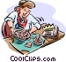working Vector Clipart image