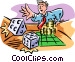 gambling/craps Vector Clipart graphic