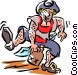 drunk sailor Vector Clip Art graphic