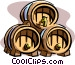 ale kegs Vector Clipart picture