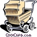 baby carriage Vector Clip Art image