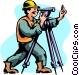 Surveyor Vector Clipart graphic