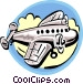 Commercial jet Vector Clip Art graphic