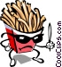 French fry character Vector Clip Art image