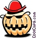 pumpkin character Vector Clipart picture