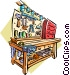 Garage workbench Vector Clipart picture