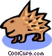 porcupine Vector Clipart illustration