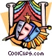 Theatre masks and stage Vector Clipart image