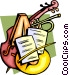 Classical music with instruments Vector Clip Art graphic