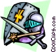 Knight's armor Vector Clip Art graphic