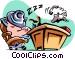 cartoon businessman/sleeping Vector Clipart image