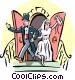 Newlywed couple Vector Clip Art image
