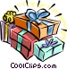 Christmas gifts Vector Clipart illustration