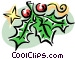 Christmas decorations/holly Vector Clip Art image
