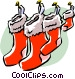 Christmas stockings Vector Clip Art image