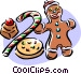 Christmas goodies food Vector Clip Art graphic