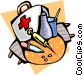Items in a doctor's bag Vector Clip Art graphic