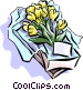 Gift of flowers Vector Clipart illustration