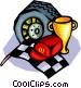 Auto racing Vector Clipart illustration
