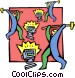 efforts to forge new technologies Vector Clipart picture