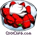 strawberries/dessert Vector Clipart graphic
