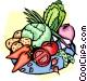 Vegetable platter Vector Clip Art image