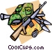 Army weapons Vector Clipart picture