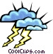 lightning clouds Vector Clipart illustration