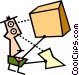 receiving parcel Vector Clipart graphic