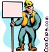 construction sign Vector Clipart image