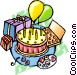 Birthday party Vector Clipart illustration