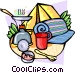 Camping equipment Vector Clipart picture