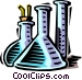 beakers and test tubes Vector Clipart graphic