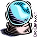 crystal ball Vector Clipart picture