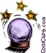 crystal ball Vector Clipart graphic