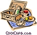 Picnic basket Vector Clipart image