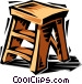 Step stool Vector Clipart picture