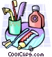 toiletries Vector Clipart image