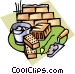 bricklayer tools Vector Clip Art graphic