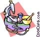 pharmacy equipment Vector Clip Art graphic