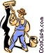 old-fashioned painter - 2 Vector Clip Art picture