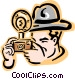 old-fashioned photographer - 2 Vector Clip Art graphic