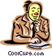office clown Vector Clipart picture
