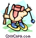 biathlon (ski & shoot) - Vector Clipart picture