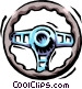 steering wheel Vector Clipart graphic