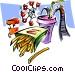 amusement park/food Vector Clip Art picture
