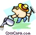 gardener - cartoon Vector Clipart picture