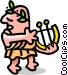 man in toga - cartoon Vector Clipart illustration