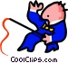 man with whip - cartoon Vector Clipart picture